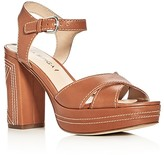Via Spiga Brianna Crisscross High Heel Platform Sandals