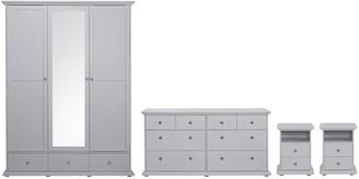 Argos Home Heathland 4Pc 3 Door 3 Drawer Wardrobe Set