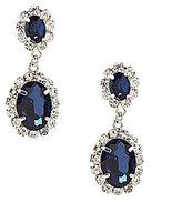 Cezanne Montana Blue Rhinestone Drop Earrings