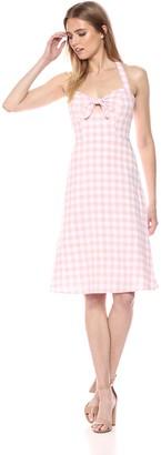 BB Dakota Women's Annelise Gingham Halter Midi Dress