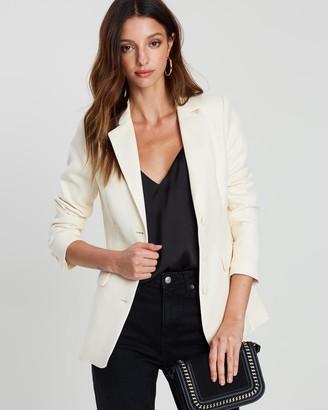 FRIEND of AUDREY - Women's Neutrals Blazers - Quinn Textured Blazer - Size One Size, L at The Iconic