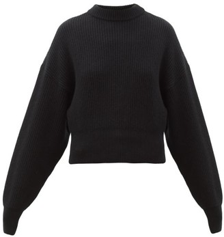 Cordova Megeve Cropped Ribbed-knit Wool Sweater - Womens - Black