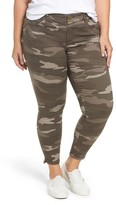 Wit & Wisdom Plus Size Women's Ab-Solution Camo Skinny Pants