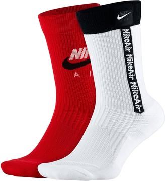 Nike Men's 2-pack SNKR SOX Unisex Crew Socks