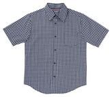 French Toast® Boys' Short Sleeved Gingham Shirt - Navy