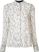 Proenza Schouler double vine print blouse - women - Silk - 0