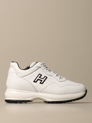 Hogan Interactive Leather Sneakers With H Flock