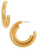 Madewell Duo Shine Medium Hoop Earrings