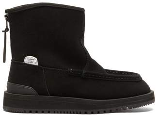 Suicoke Russ-mwpab Shearling-lined Suede Boots - Womens - Black