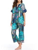 N by Natori Bandanna-Print Twill Pajamas