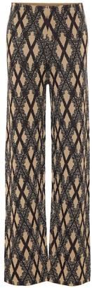 Dries Van Noten Merino wool-blend jacquard pants