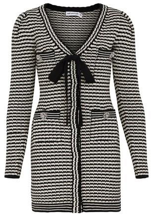 Thumbnail for your product : Self-Portrait Striped mini dress