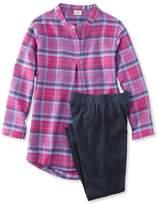 L.L. Bean Girls' Flannel Sleepwear Set