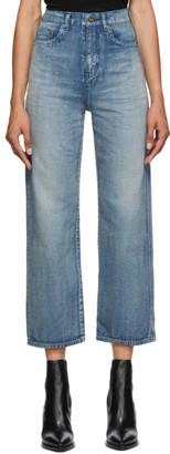 Saint Laurent Blue Denim Original High-Rise Jeans