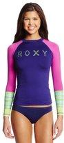 Roxy Juniors' Perfect Stripe Long-Sleeve Rash Guard