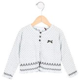 Tartine et Chocolat Girls' Cashmere-Blend Ruffle-Trimmed Cardigan w/ Tags