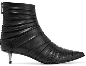 Tom Ford Ruched Leather Ankle Boots