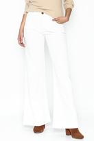 Julie Dorst White Denim Flare Pants