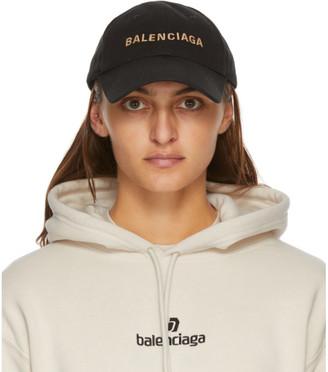Balenciaga Black Logo Visor Cap