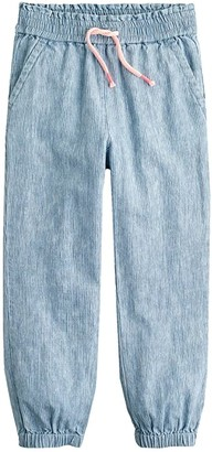 crewcuts by J.Crew Railroad Chambray Beach Pants (Toddler/Little Kids/Big Kids) (Beach Bum Wash) Girl's Casual Pants