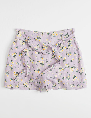 FOR ALL SEASONS Tie Waist Floral Girls Shorts