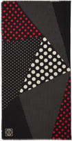 Loewe Multicolor Polka Dot Patchwork Scarf