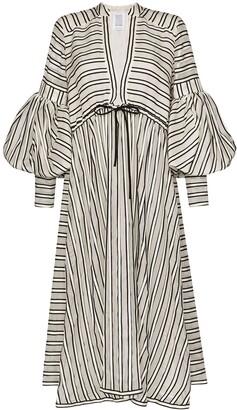 Rosie Assoulin Lantern striped midi dress