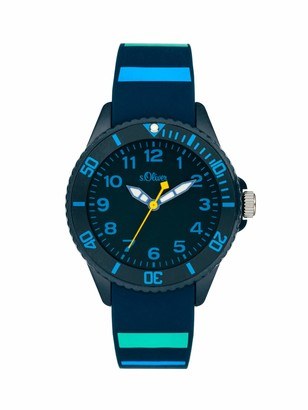 S'Oliver Unisex's Analogue Quartz Watch with Silicone Strap SO-4005-PQ