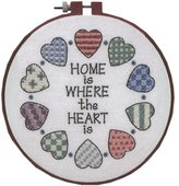 "Dimensions Home and Heart"" Stamped Cross Stitch Kit, Multi-Colour"