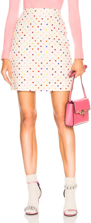 Valentino Polka Dot Mini Skirt