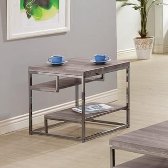 Wildon Home End Table Color: Dark Grey