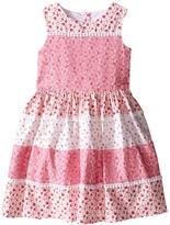 Us Angels Cotton Poplin & Lace Sleeveless Sundress w/ Full Skirt (Toddler/Little Kids)