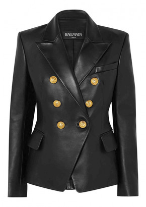 Balmain Black Leather Jackets