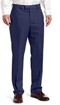 Louis Raphael LUXE 100% Wool Solid-Colored Modern-Fit Flat-Front Dress Pant