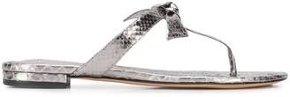 Alexandre Birman Bow Detail Flip Flops