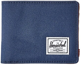 Herschel Hank RFID (Black/Black Synthetic Leather) Wallet Handbags