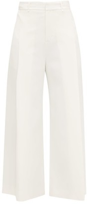 Roland Mouret Liberty Pleated Wide-leg Trousers - White