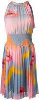Prada lips print pleated dress
