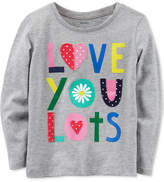 Carter's Love You Lots Long-Sleeve Cotton T-Shirt, Toddler Girls