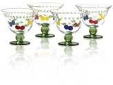Villeroy & Boch Glassware, Set of 4 French Garden Footed Bowls