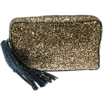 Anya Hindmarch Gold Glitter Twinkle Clutch