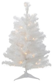 Northlight 3' Pre-Lit Led Snow White Medium Artificial Christmas Tree - Clear Lights