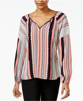 Sanctuary Lana Printed Peasant Top