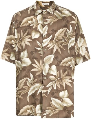 Pierre Cardin Pre-Owned 1990s Palm Trees Print Shirt