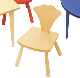 "The Children's Furniture Co. Leaf Ginkgo Kids Novelty Chair Size: 23"" H x 14.5"" W x 14"" D, Color: Natural"