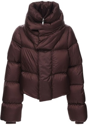 Rick Owens Nylon Puff Down Jacket W/Double Collar