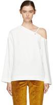 Nomia White Single-shoulder Blouse
