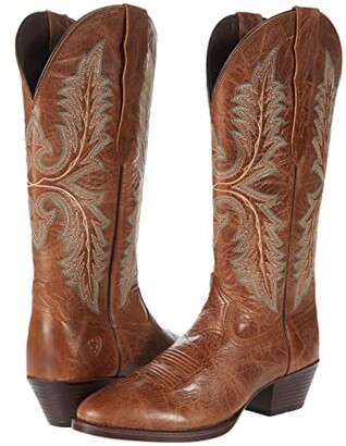 Ariat Heritage Elastic Calf (Dark Tan) Women's Boots