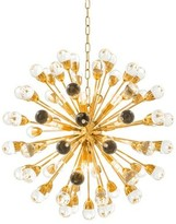 "Eichholtz Antares 12-Light Sputnik Globe Chandelier Finish: Gold, Size: 29"" H x 29"" W x 29"" D"