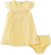 Calvin Klein Pleated Crochet Dress, Baby Girls (0-24 months)